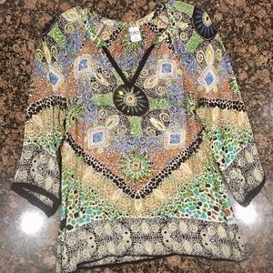 Beautiful Sequin Embellished Multi-Colored Top